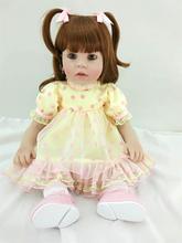 """Adorável da menina da criança do bebê bonecas vivas 24 """"50 cm vinil silicone bonecas reborn bonecas realistas bebês recém-nascidos bebe renascido"""