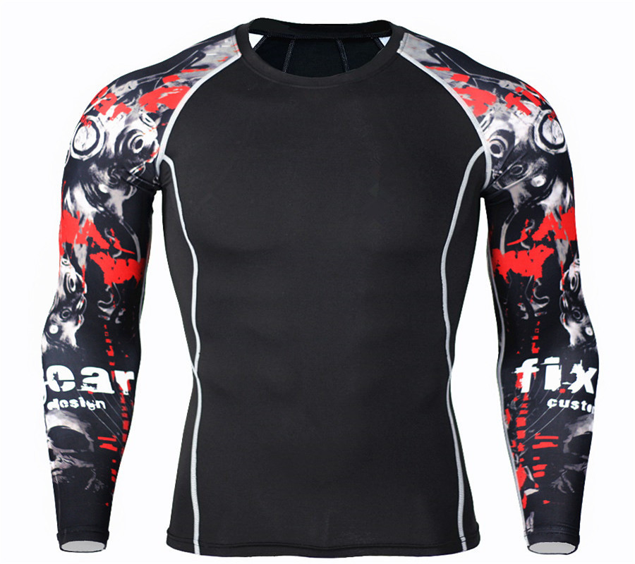 thermal underwear tracksuit for men 2017 rashgarda mma kit long sleeves set men Free delivery