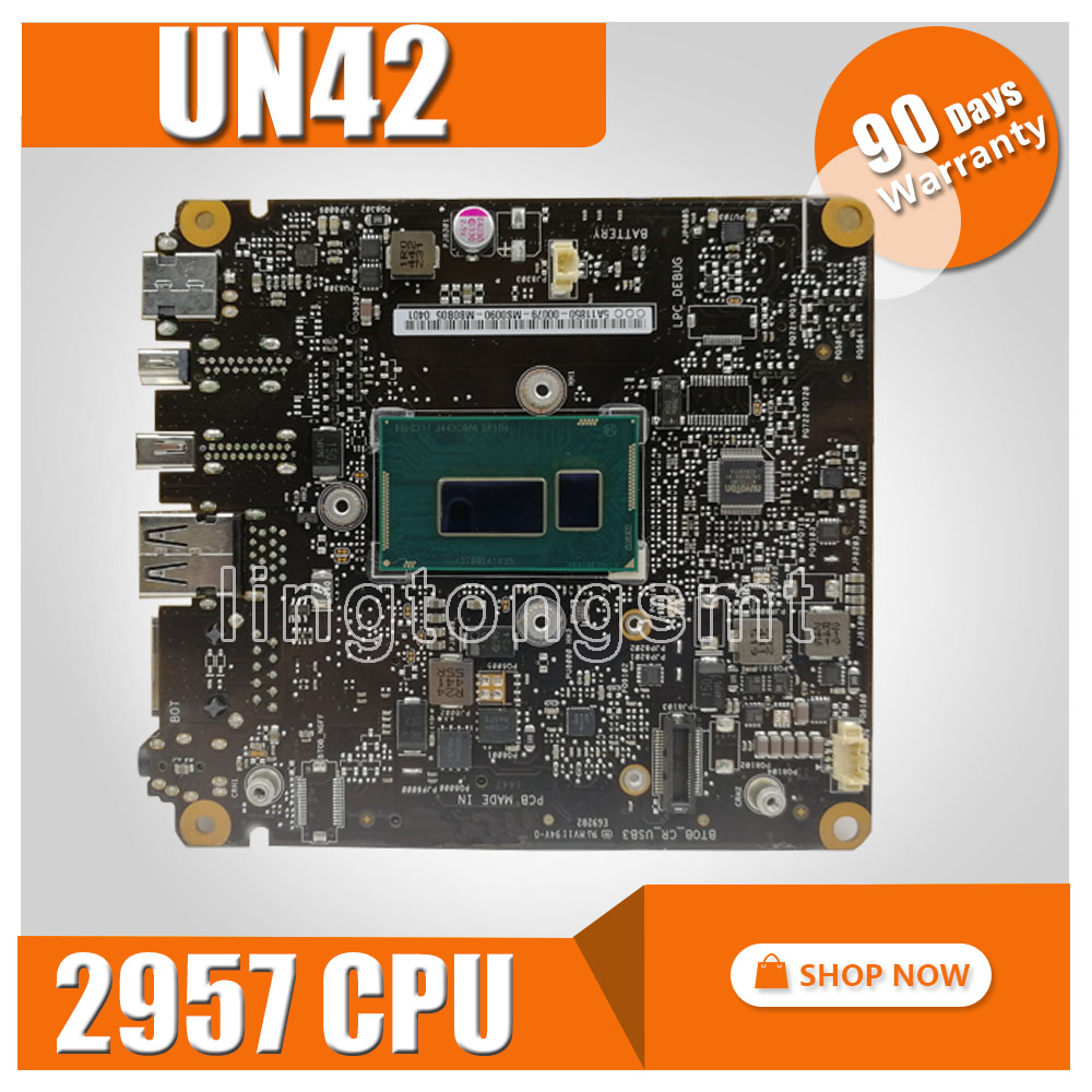 UN42 Motherboard 2957 CPU HM70 For ASUSUN42 Laptop motherboard UN42 Mainboard UN42 Motherboard test 100% OK pia 639dv motherboard 100