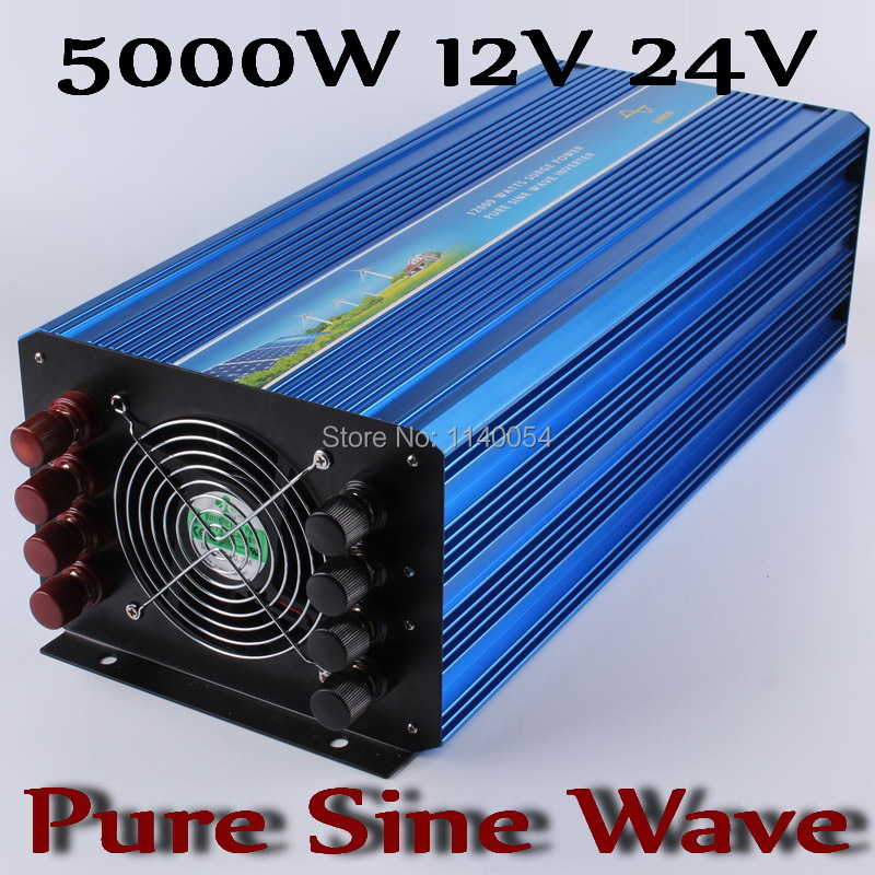 5000W Off Grid Inverter pure sine wave output solar wind power inverter 12V or 24V DC to AC 220V 230V 110V 120V output wind solar hybrid dc to ac pure sine wave off grid solar inverter 48v 110v 4000w