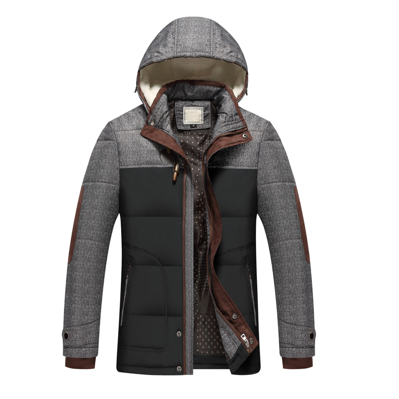 Brand Winter Jacket Men  Cotton Thick  Fashion New Arrival Casual Slim Mens Coat With Hooded Warm Casaco Masculino(China)