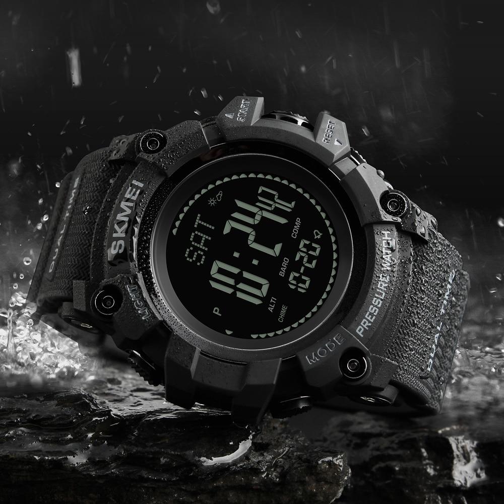 29175b632f0c Pesca Digital reloj barómetro 3ATM impermeable deportes relojes de pulsera  para hombres termómetro altímetro pesca reloj