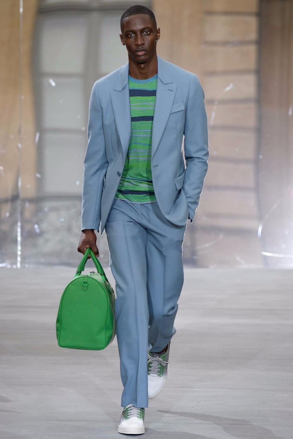 Latest Coat Pant Designs Light Blue Casual Custom Best Man Jacket ...