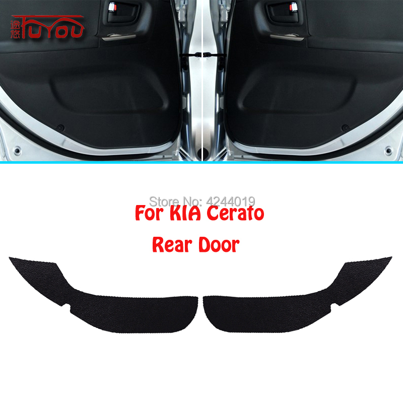 For KIA Cerato Car Inside Door Cover Scratch Protection Anti Kick Decorative Pads Car Sticker 4pcs|Automotive Interior Stickers| |  - title=