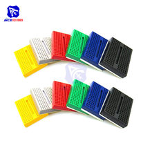 1 Piece 6 Color Value Yellow/White/Red/Green/Blue/Black PCB 170 Tie-Points Mini Solderless Breadboard for Arduino Proto Shield(China)