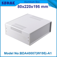 1 piece abs plastic electronics enclosure pcb box housing black 79x219x195 mm led power supply box