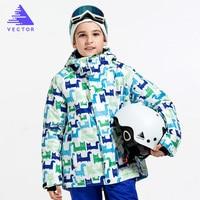 VECTOR Brand Winter Ski Jackets Boy Warm Skiing Snowboard Jackets Children Windproof Waterproof Outdoor Sport Coats HXF70014