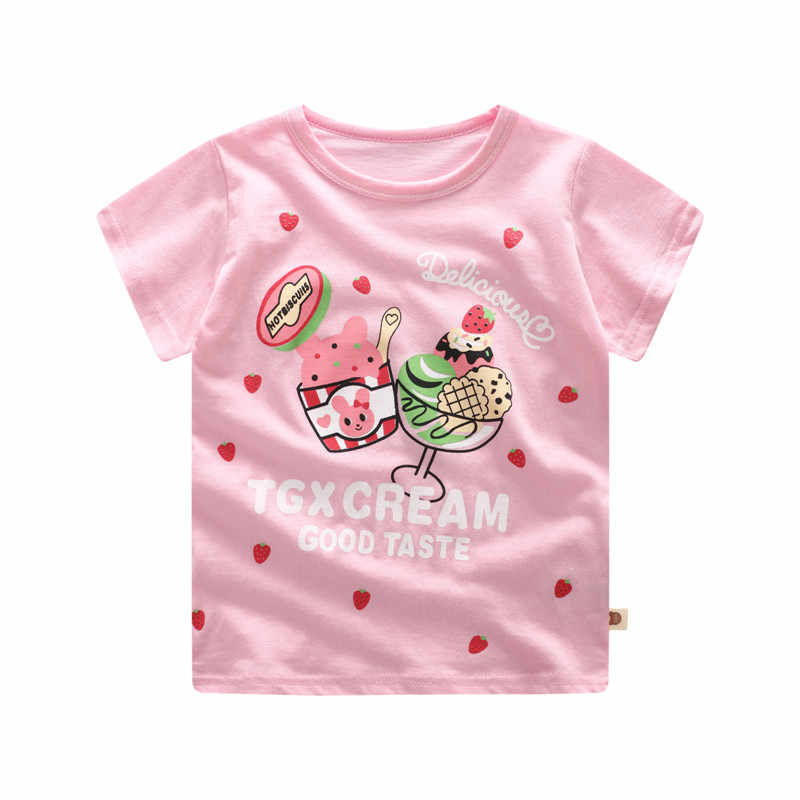 12M18M24M3T6T Baby Girl T-shirts Summer Children Clothes Kids Boy Short Sleeve Tops Tees Cotton Casual T-shirt Top Girls Tops