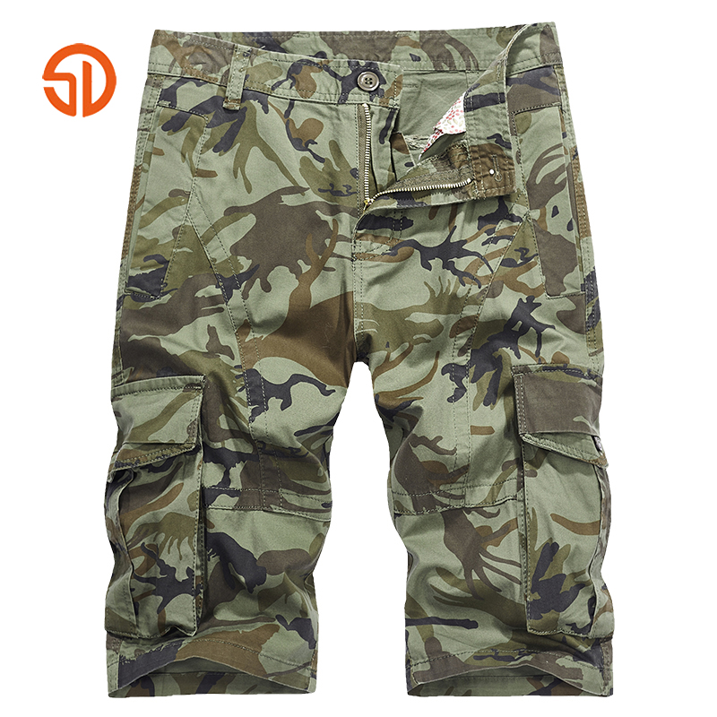 Shorts Men Clothes 2018 Camouflage Loose Cargo Shorts Men Cool Summer Casual Military Camo Multi-pocket Tactical Short Male