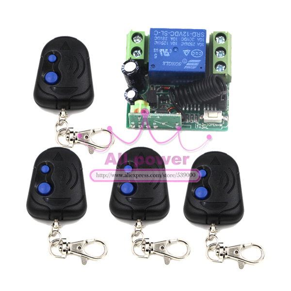 Safe Z-Wave 315/433MHz RF Wireless Remote Control Light Switch DC 12V 10A Can Work With Broadlink Pro 315 433mhz 12v 2ch remote control light on off switch 3transmitter 1receiver momentary toggle latched with relay indicator