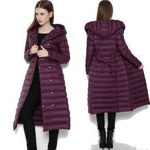Плюс размер Двойной Брестед Мода Расширение Утолщение Долгой Зимы Женщин Пуховик С Капюшоном Женские Пальто Теплое Пальто D149