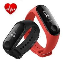 Светодио дный Дисплей Смарт часы группа 3 с мониторинга сердечного ритма крови Давление измерения спортивный браслет Семья сна медицинские инструменты
