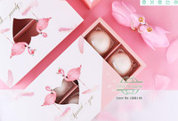 Pink color Flamingo pattern Cake box sugar candy biscuit paper box with heart shape window gift Boxes 100pcs/lot