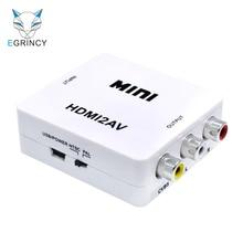 Original Hot For HD TV BOX PS3 VCD DVD PAL/NTSC Composite HDMI To RCA AV/CVBS Adapter Mini HDMI2AV Video Converter BOX HD 1080P
