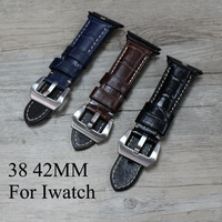 38mm 42mm Apple Watchband Special Design Brown Black Blue Leather Apple Watch Strap Belt For Iwatch