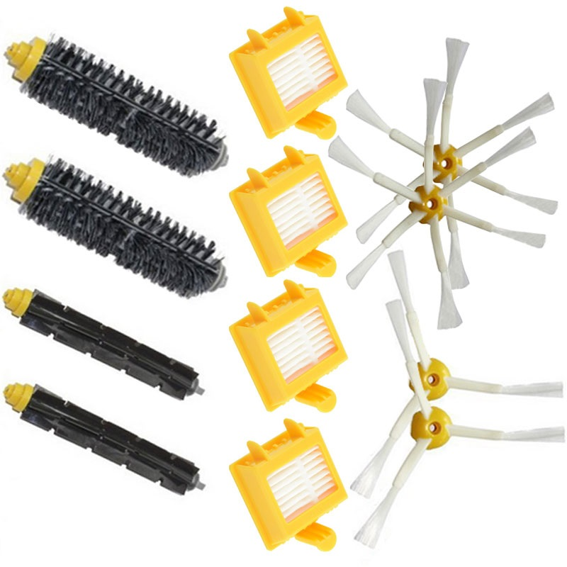 For iRobot Roomba 770 replacement parts irobot 780 roomba Filter 750 760 761 790 Side Brush Vacuum Cleaner accessories bristle flexible beater brush side brush hepa filter replacement kit for irobot roomba 700 770 780 750 760 761 790 vacuum parts