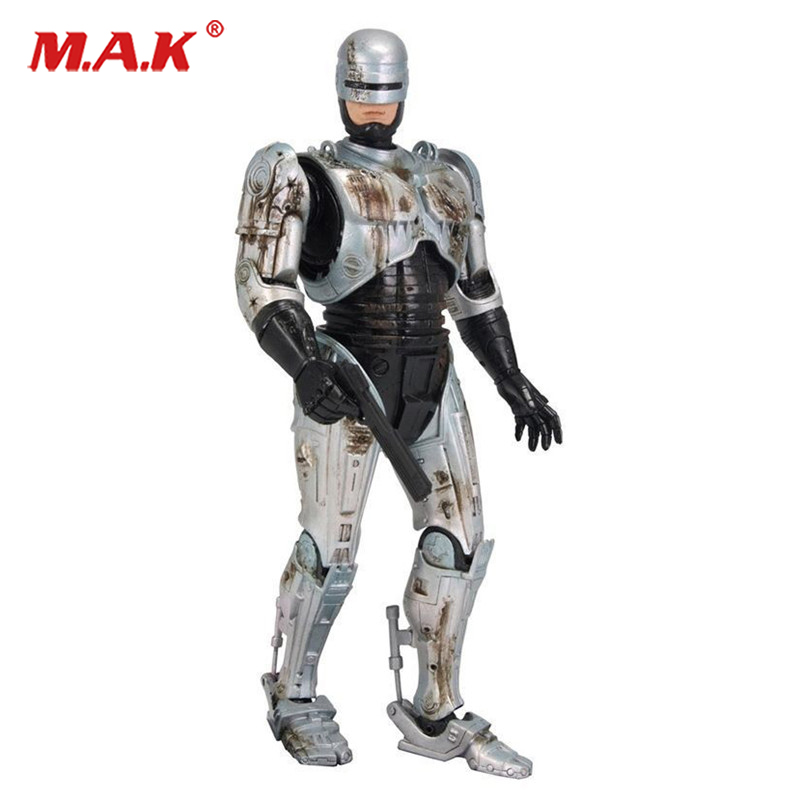 7inches Robocop action figure battle damaged Ver. model toys collections children toys cool gifts robocop action figure 7 battle damaged ver murphy model toys best kids gifts collections