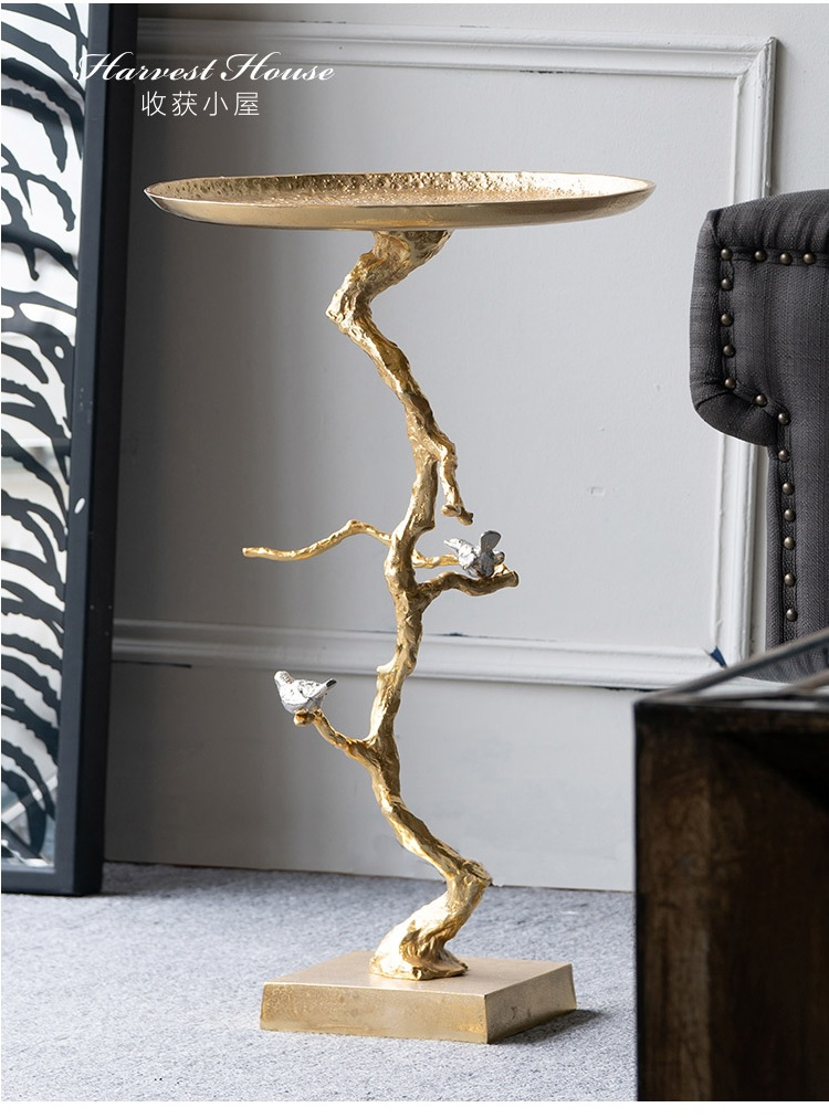 71cm Aluminum Made Side Table / India Made Tree Branches Coffee Table