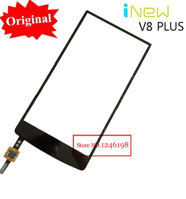 Em estoque! De alta qualidade Inew V8 além da tela de toque digitador para Inew V8 Plus móvel vidro dianteiro Sensor de peças de reposição