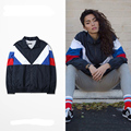 Jacket Men Gosha Rubchinskiy Classic Navy Tricolor Sporting Long Sleeve Windbreaker Jackets Hiphop Skateboards Couples Outwear