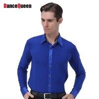 2018 Men Ballroom Dance Latin Top Latino Dancewear Mens Dance Clothes Vestito Ballo Latino Adulti Ballroom Tango Dresses