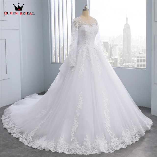 Custom Made Ball Gow Lace Beading Flowers Real Photos Wedding Dresses Bride Wedding Gowns Marriage Vestido De Noiva DR28