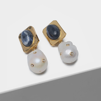 Irregular pearl pendant fashion pearl earrings