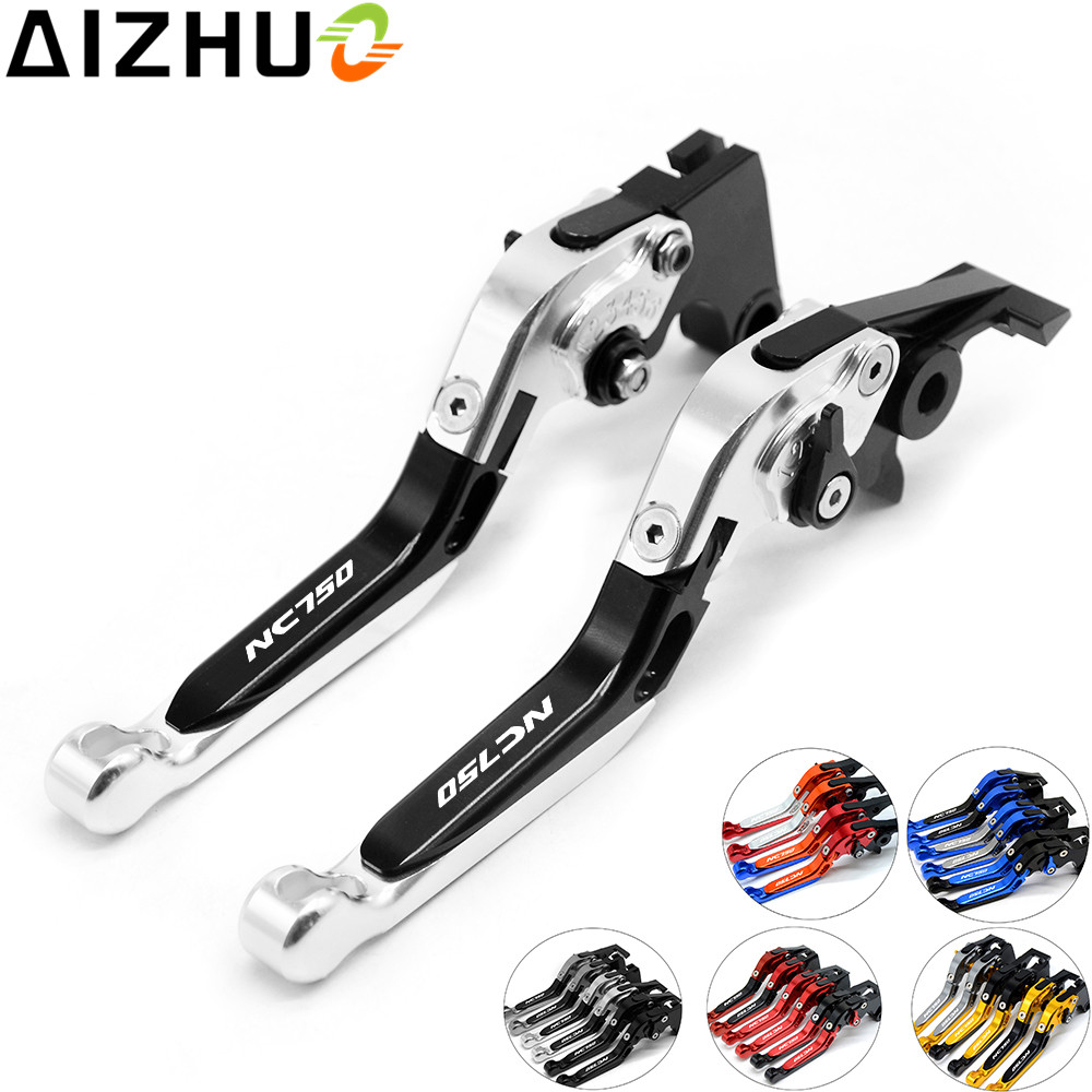 For Honda NC750X NC750S NC 750S 750X 2014-2015 Motorcycle Clutch Brake Lever CNC Aluminum Extendable Adjustable Lever NC750 LOGO купить