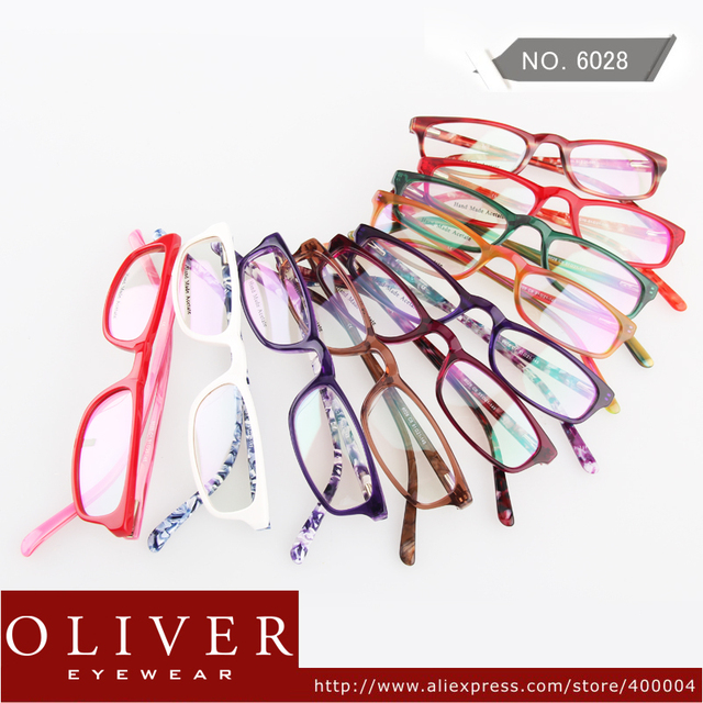 New Retail Designer Fashion Style Colorful Acetate Eyewear Frames Women Men High Quality Oliver 6028