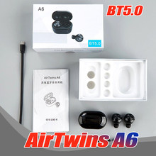 20PCS A6 TWS Mini Wireless Bluetooth 5.0 Air twins in ear Earphone Earbuds With Charge Box Stereo With Microphone Free DHL(China)