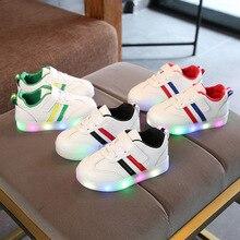 Nova luz brilhante das crianças sapatos meninas sapatos meninos sapatos flash LED luminoso