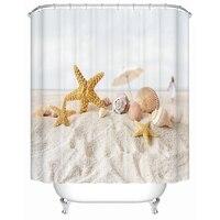 Starfish On The Beach Shower Curtains Bathroom Curtain Waterproof Fabric Shower Curtain High Quality Bathroom Products