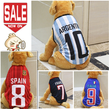 Large Sports Dog Clothes Summer Plus Size Warm Cotton Dog Vest Coat Cheap Big Dog Clothing For Small Medium Large Dogs XS-6XL