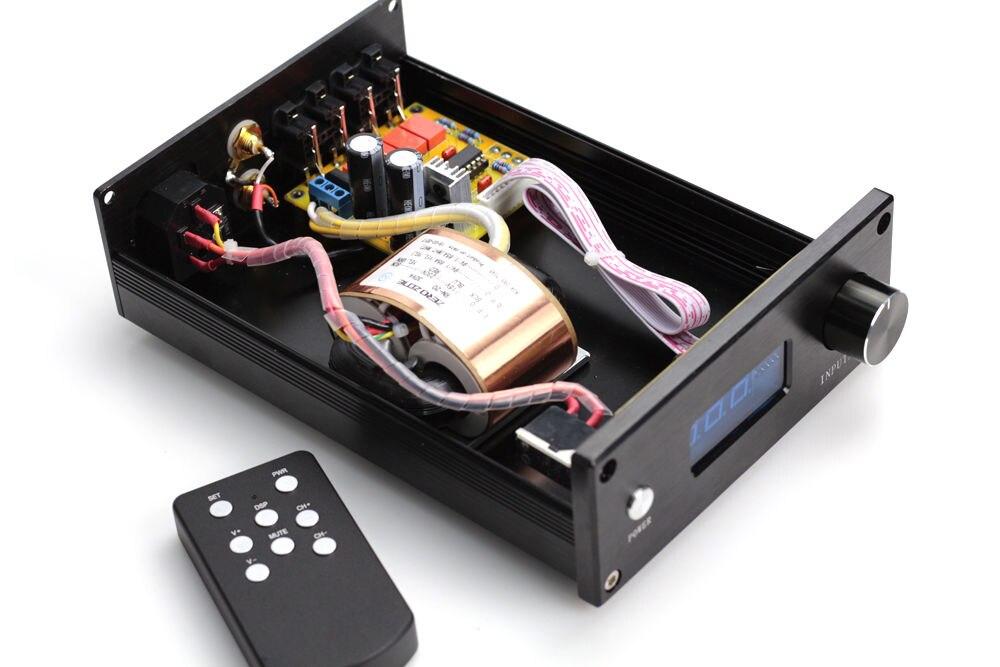 HIFI PGA2311 télécommande contrôle du Volume préamplificateur stéréo préampli avec entrées 4 voies - 2