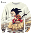 Anime Camisolas Bonito Kid Goku De Dragon Ball 3D Moletom Outerwear Hip Hop Crewneck Pullovers Sportswear Dos Homens Das Mulheres de Manga Longa