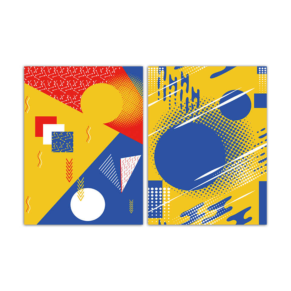 Modern Nordic Canvas Art Print Painting Abstract Geometric Poster Minimalist Bedroom Pop Wall Pictures Fashion Office Home Decor
