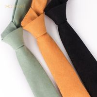 Professional casual tie Solid color narrow version suede candy color macaron monochrome men and women with the tie
