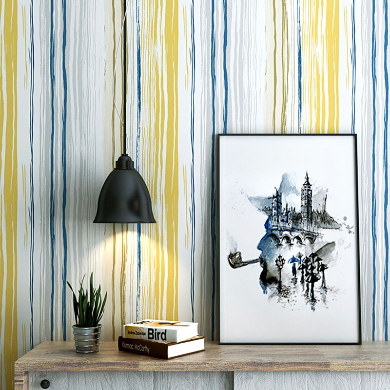 Modern Concised Nordic Europe Vertical Stripes Wallpaper ...