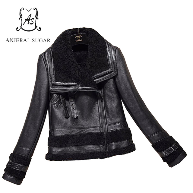 Winter women mouton lamb fur coat feminino black sexy short Genuine Sheep leather jacket women jacket coats casacos de inverno
