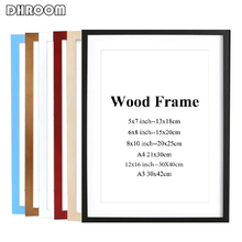 Black White Wood Color Picture Photo Frame A4 A3 Wooden Nature Solid Simple Wall Mounting Hardware Included
