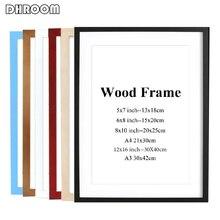 Marco de fotos de madera en Color blanco y negro marco de madera A4 A3, marco de madera natural liso Simple, accesorios de montaje de pared incluidos