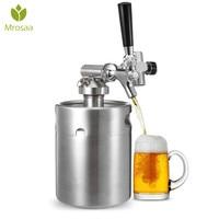 4L/2L Нержавеющаясталь 304 пива мини бочонка Homebrew CO2 регулятор давления воздуха кран может красное вино пивоварения бутылки вина решений инст