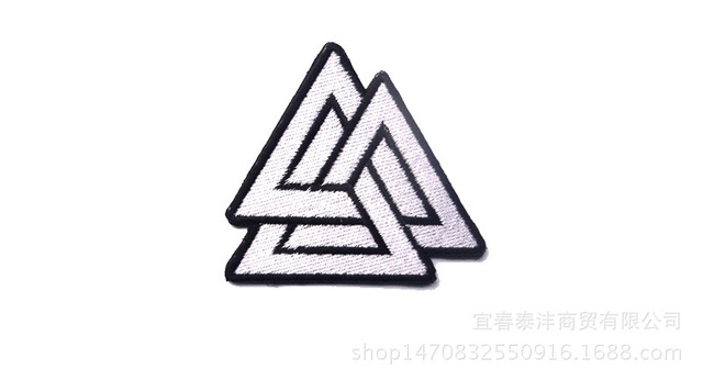 Single piece triangle Viking forces logo hat 6.8x6.8cm embroidery patch  maker iron on morale patch d6194d82ac1