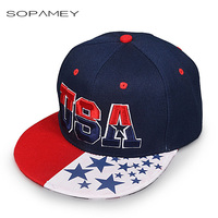 American Flag Snapback Hats Brand USA Letter Cotton Gorras Hip Hop Snapback Caps Men Women Baseball