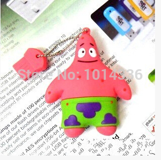 2/4/8/16/32GB cute Patrick Star USB Flash Drive/U Disk/creative Pendrive/Memory Stick/Di ...