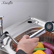 Сюэцинь вытащить кухонный холодной воды смесителя Одной ручкой Спрей для ванной раковины умывальники кран краны