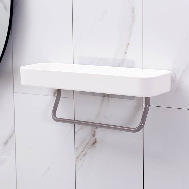 Bathroom Shelving Wall Storage Rack Organizer for Shower Holder Toilet Suction Cup Storage Rack Accessories