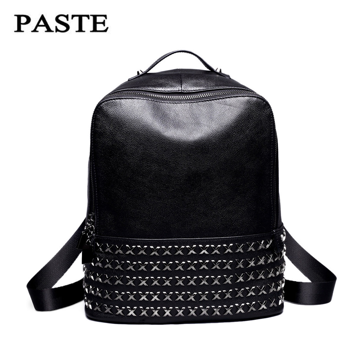 The first layer of leather shoulder bag large rivet all-match leisure bag fashionista 0686 the first layer of leather shoes and a pedal comfort all match full leather comfortable foot leather bottomed women shoes