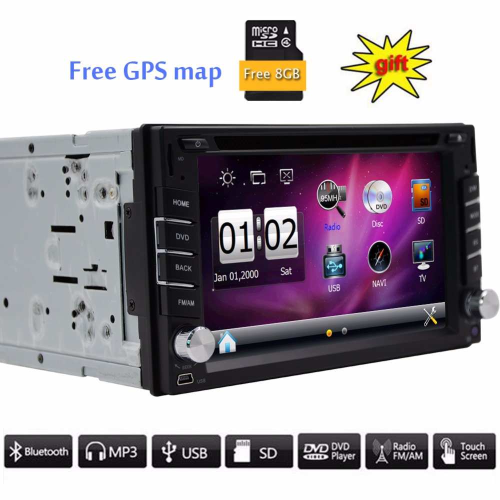 new arrival double 2 din 6 2 39 39 inch car radio player support bluetooth car gps navigation dvd. Black Bedroom Furniture Sets. Home Design Ideas