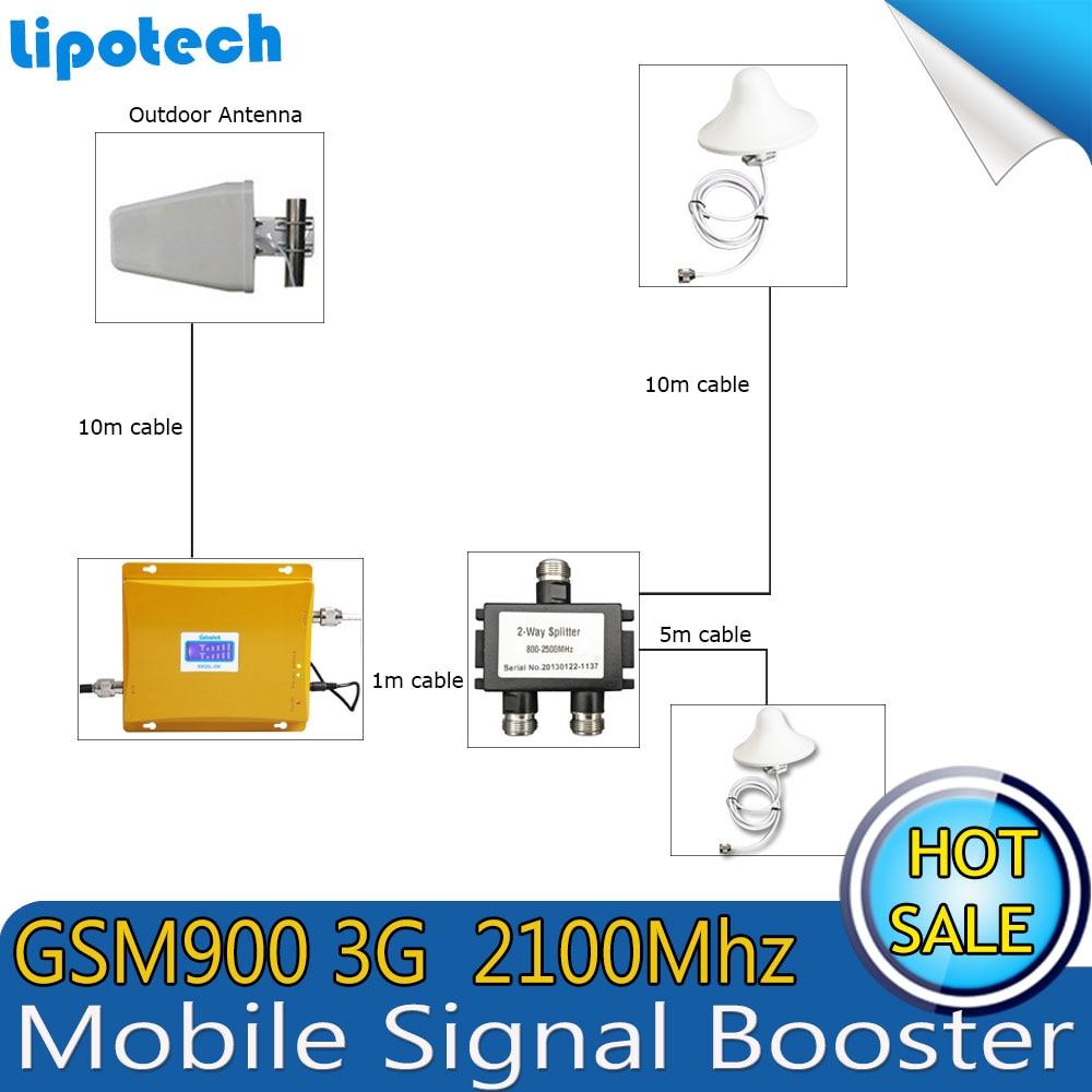 Lintratek Two Indoor 2G 3G Amplificador de señal Set GSM 900 GSM - Accesorios y repuestos para celulares - foto 2